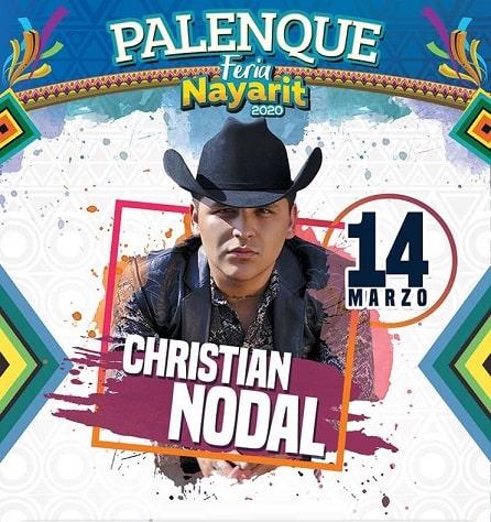 Christian Nodal en el Palenque Feria Nayarit 2020