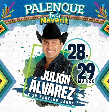 Julion Alvarez en el Palenque Feria Nayarit 2020