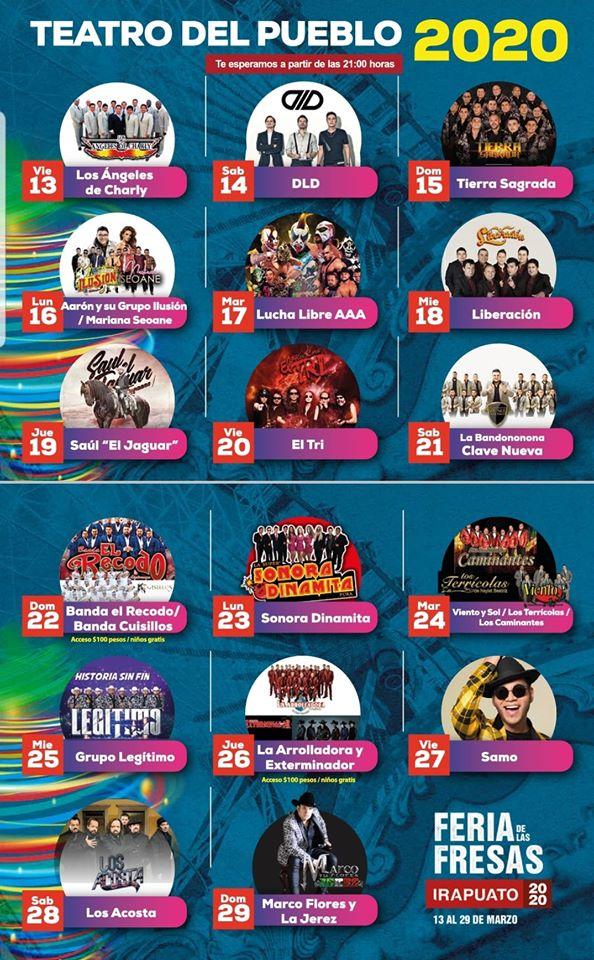 Teatro del Pueblo Feria de las Fresas Irapuato 2020