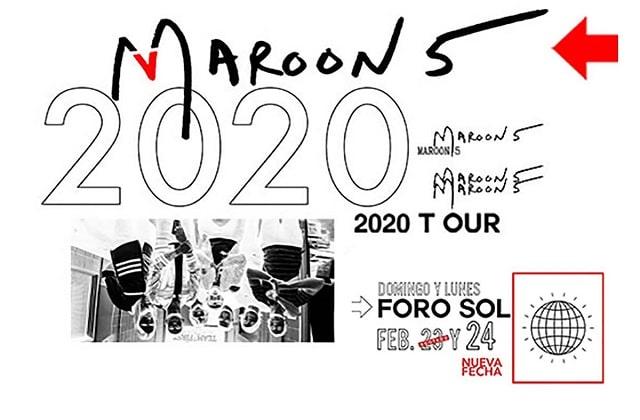 Concierto de Maroon 5 en el Foro Sol 2020
